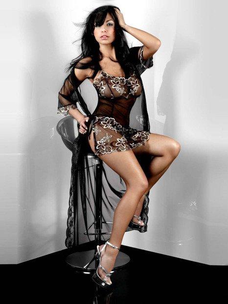 Hera Dressing Gown - niezwykle delikatny szlafroczek - LCJS3811