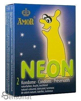 Neon - prezerwatywy świecące w ciemności (2 szt.) - AM-50100