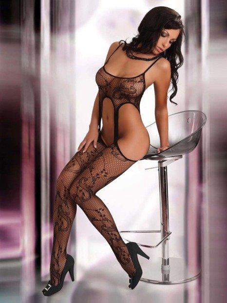 Praline - seksowne bodystocking a'la pończochy - LC17038