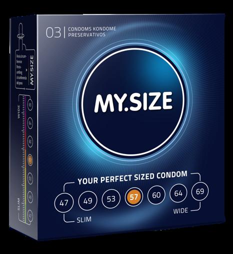 MY.SIZE 57  - dobrane do obwodu 11,5 - 12,0 cm (3 szt.)