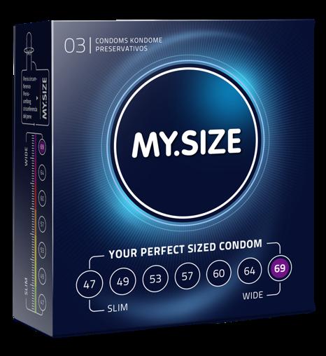 MY.SIZE 69  - dobrane do obwodu 14,0 - 15,0 cm (3 szt.)